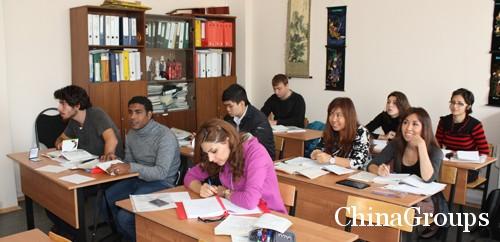 количество учащихся в университете Китая