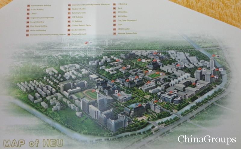 схема кампуса университета