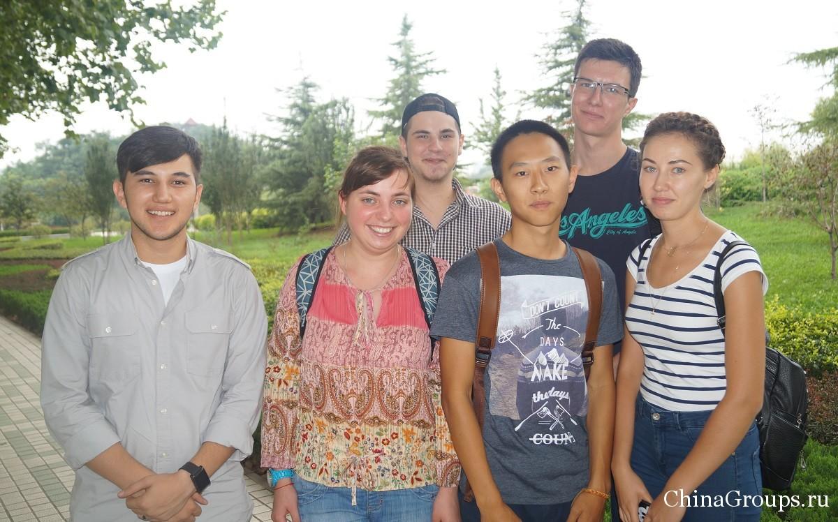 студенты Шаньдунского политехнического университета 2015