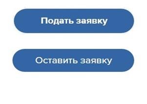 Кнопки для подачи заявки на грант