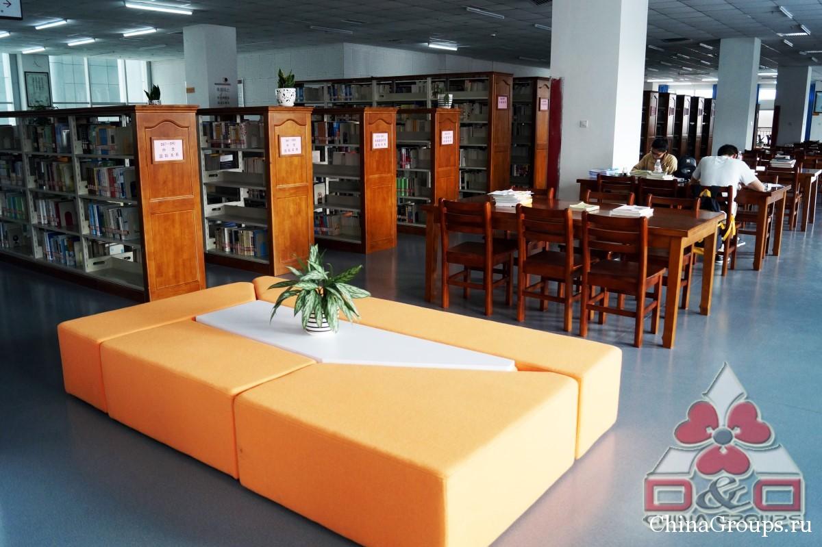 Институт Тунжень библиотека стеллажи с книгами