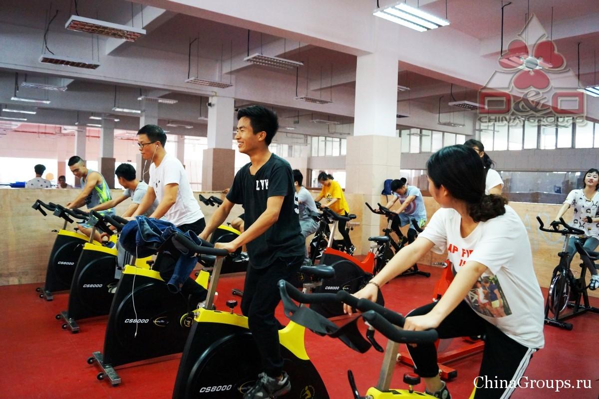 Институт Тунжень инфраструктура велосипедные тренажеры