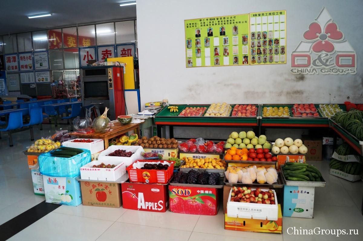 Институт Тунжень столовые свежие фрукты
