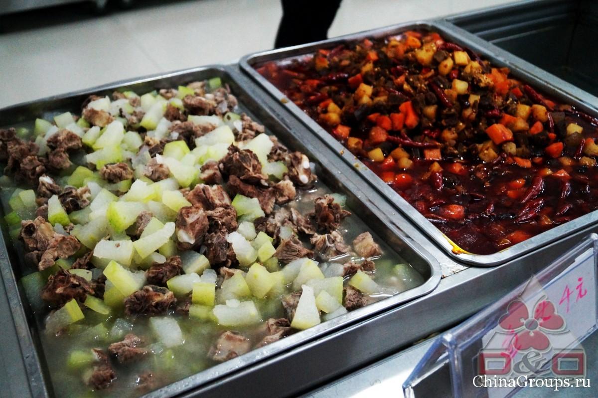 Институт Тунжень столовые еда в столовой