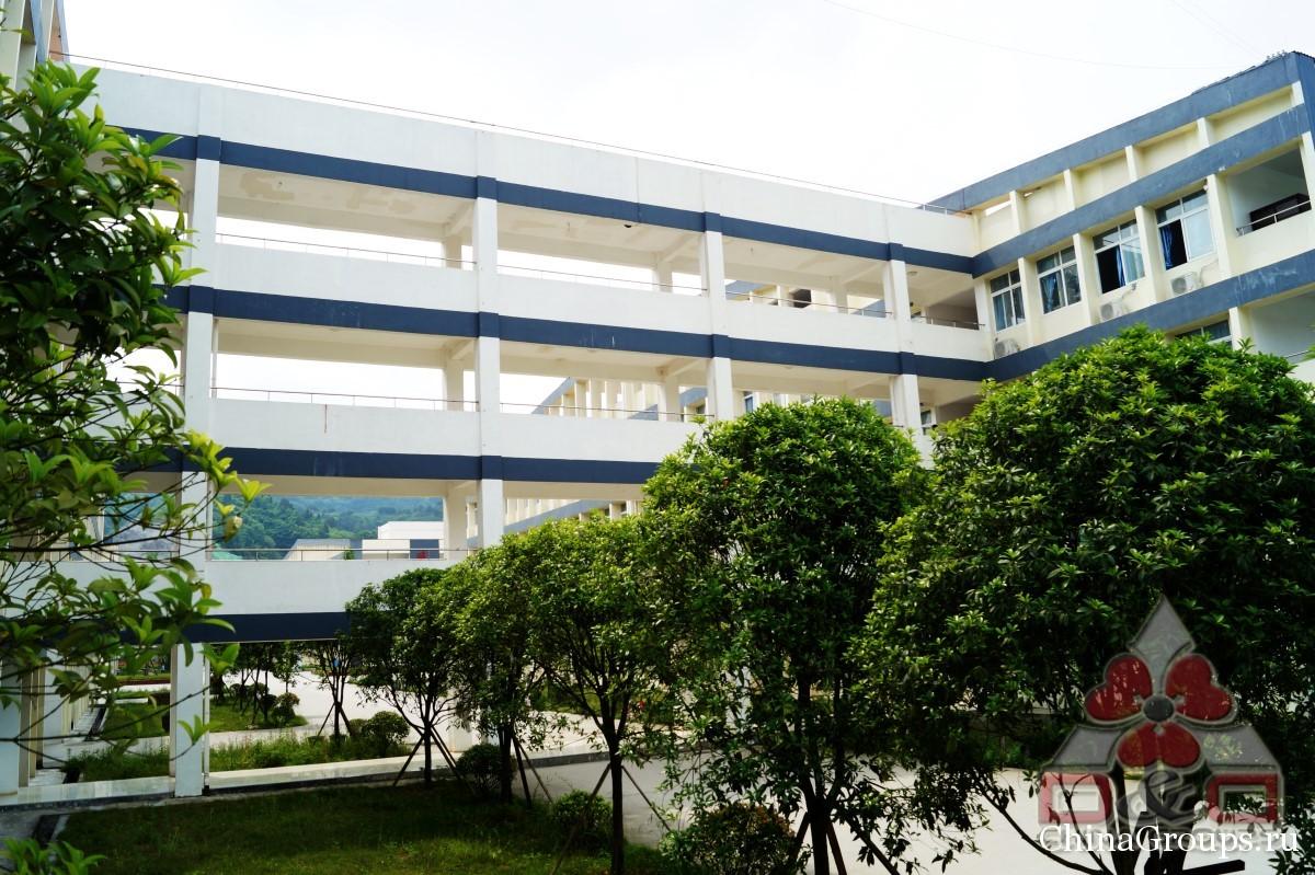 Институт Тунжень территория кампуса переход из кампуса