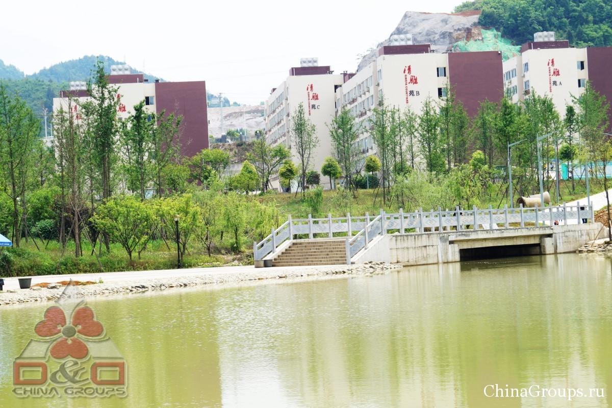 Институт Тунжень территория кампуса общий вид на кампусы