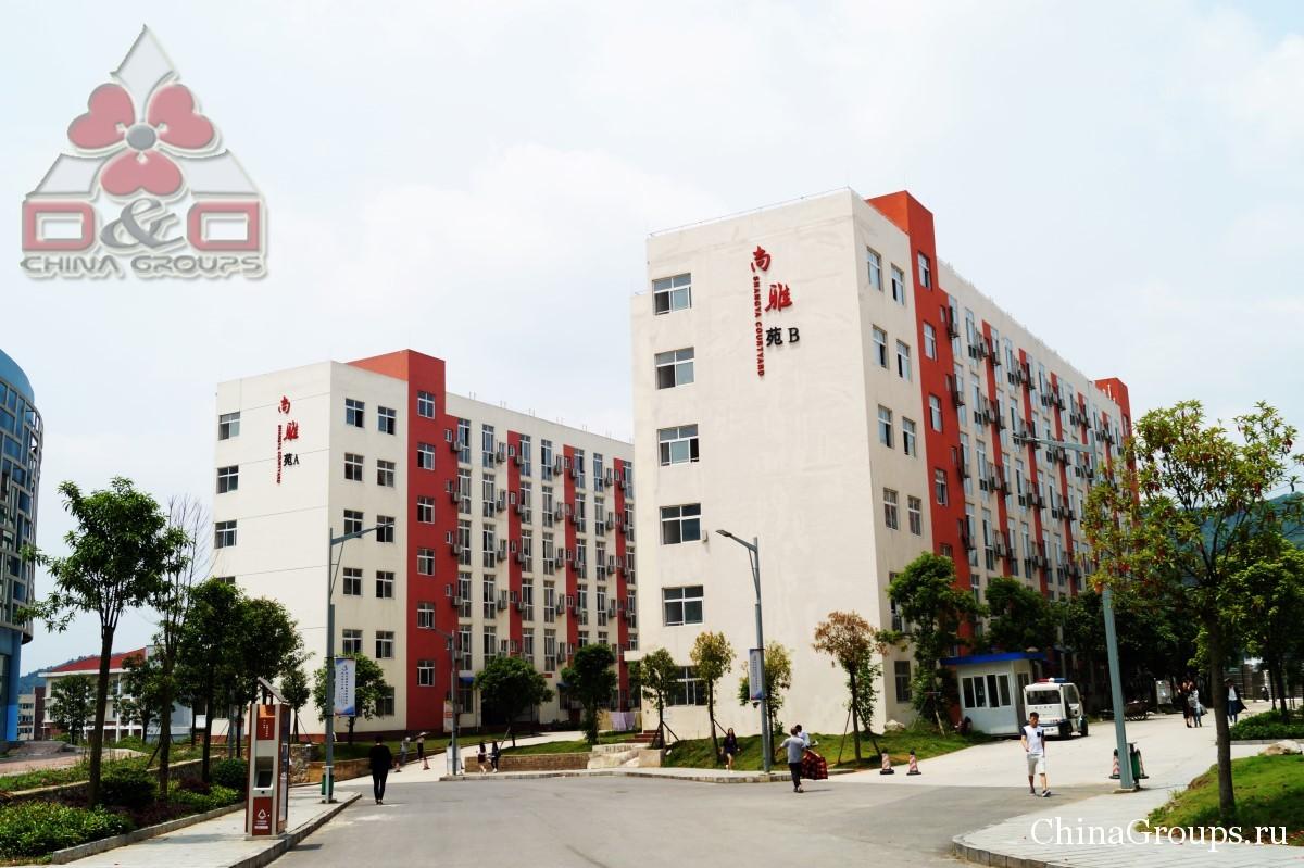 Институт Тунжень территория кампуса здания кампусов и студенты