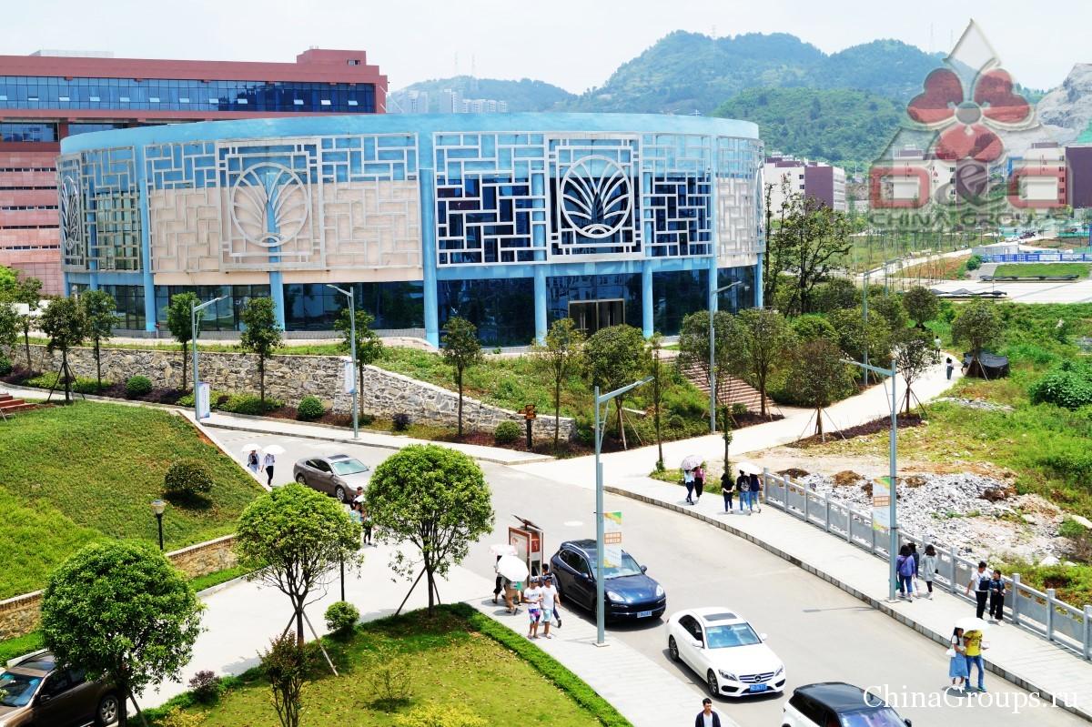 Институт Тунжень территория кампуса перекресток в кампусах