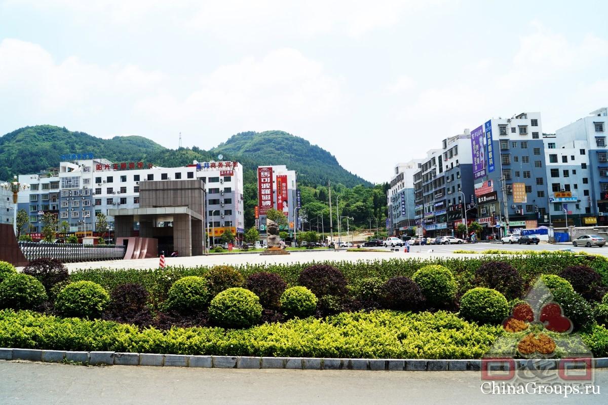 Институт Тунжень территория кампуса вид перед входом в кампусы